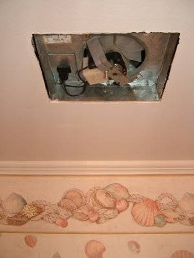 How To Remove A Bathroom Exhaust Fan Hunker