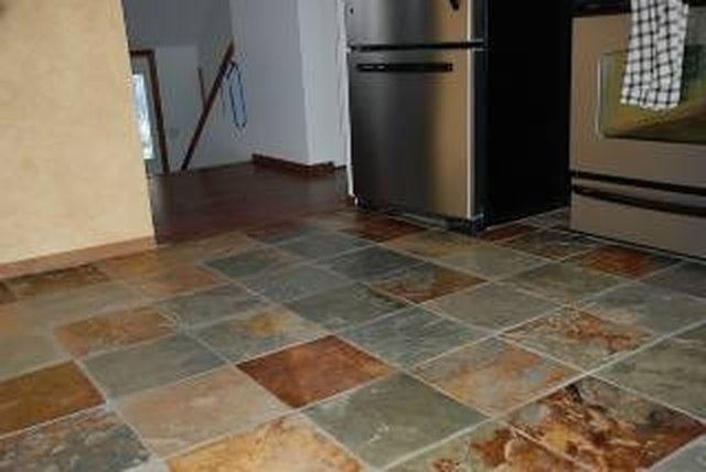 How To Stain Tile Floors Hunker - Clear coat for tile floors