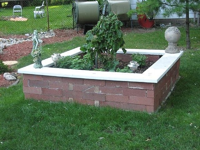 how to build a brick raised garden bed without using cement hunker