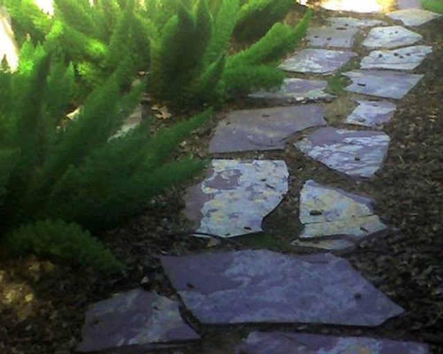 how to build a flagstone walkway on a hill hunker