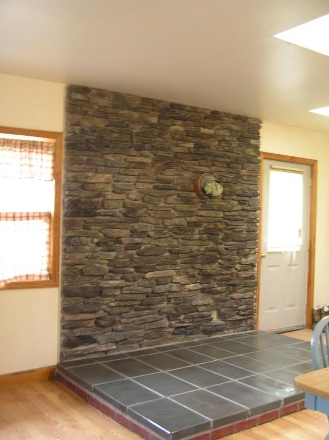 How To Build A Stone Veneer Wood Stove Backing Hunker