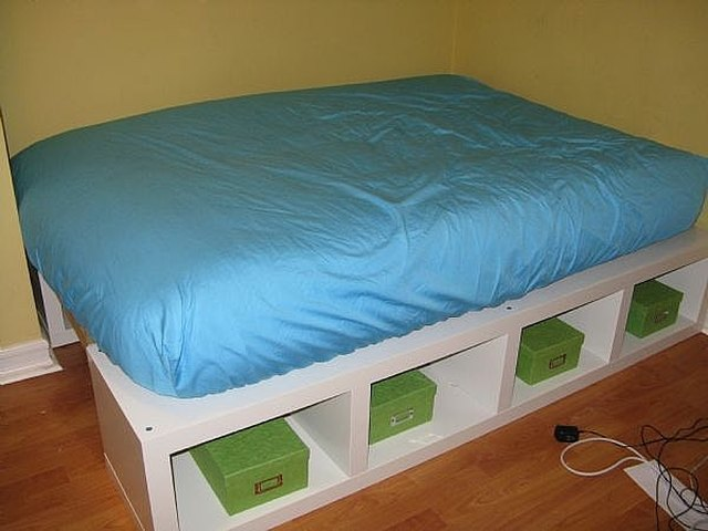 How To Build A Full Double Platform Bed With Storage Hunker