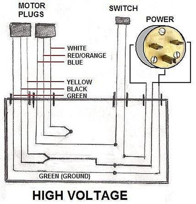 115 volt schematic wiring 208 volt schematic wiring diagram how to wire an electric motor to run on both 110 and 220 ...