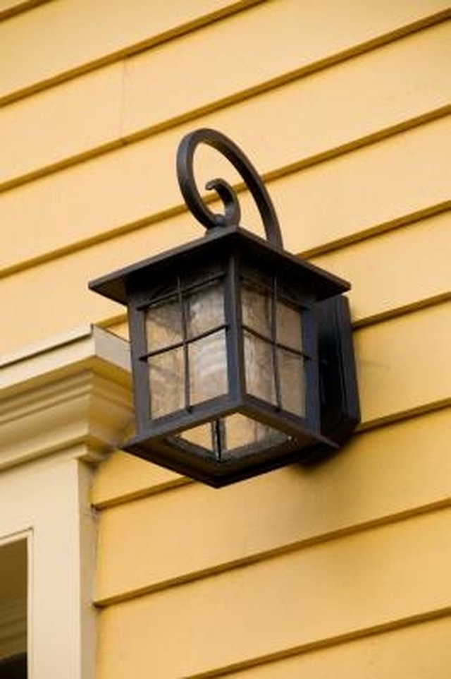 How to add a motion sensor to an outdoor wall light hunker step 1 aloadofball Images