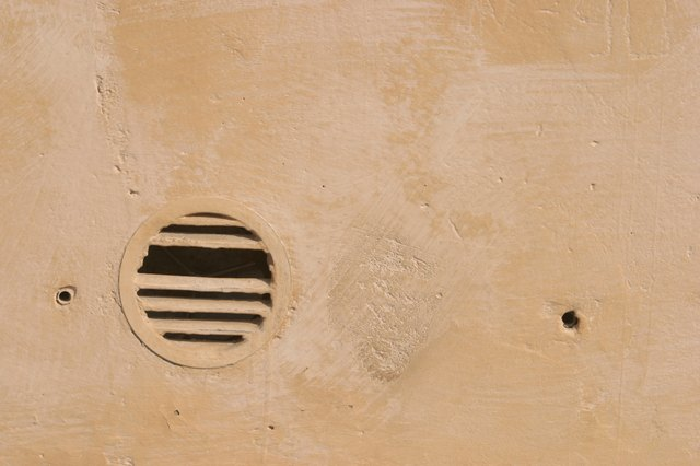 Vent in plaster wall