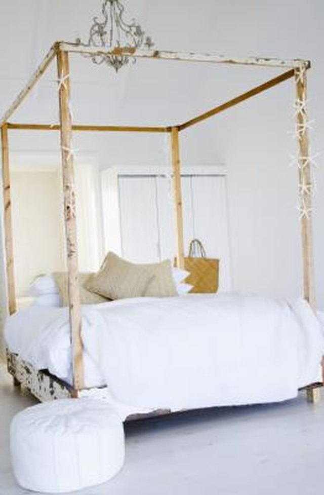 How To Build A Canopy Bed Frame Hunker Interiors Inside Ideas Interiors design about Everything [magnanprojects.com]