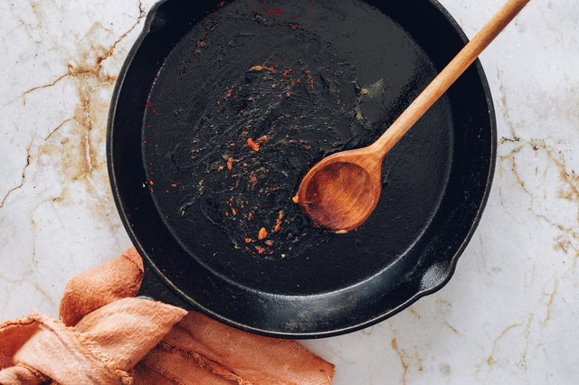 Easiest Way to Clean a Cast Iron Skillet | Hunker
