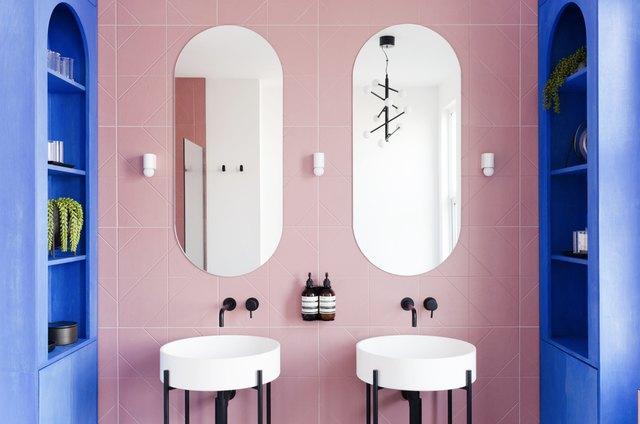 These Pink Bathroom Backsplash Ideas Are Sweet as Punch   Hunker