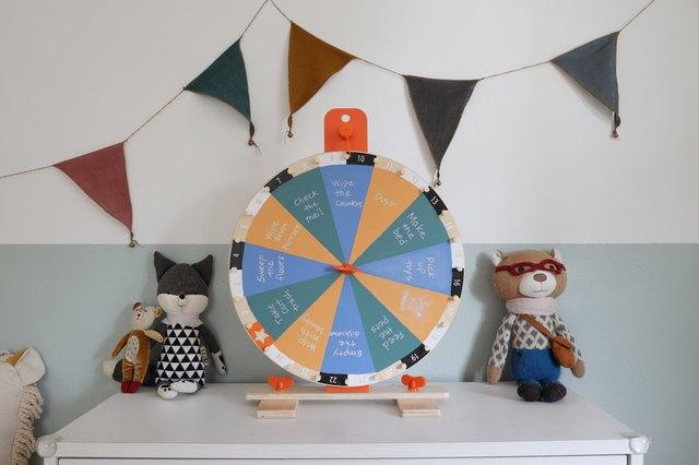 Cute Chore/Activity Wheel DIY Using This IKEA Product | Hunker