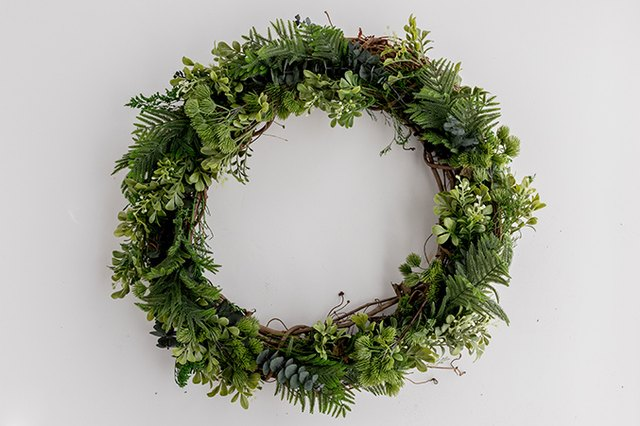 DIY Faux Evergreen Wreath (That You Can Reuse Every Christmas) | Hunker