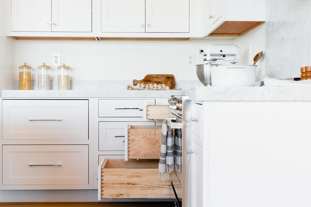 How to Clean Grease From Kitchen Cabinet Doors | Hunker