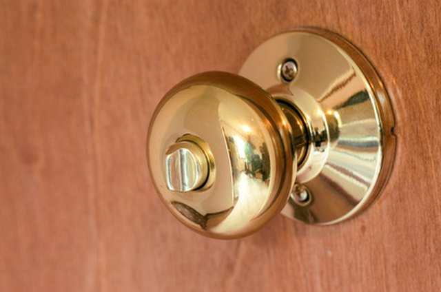 Opening A Locked Push On Bathroom From The Outside