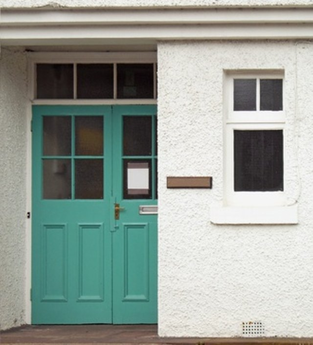 Merveilleux How To Put A Window In A Solid Wood Door | Hunker