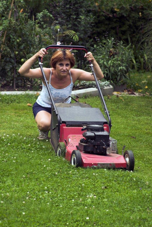 fix  stuck lawn mower engine hunker