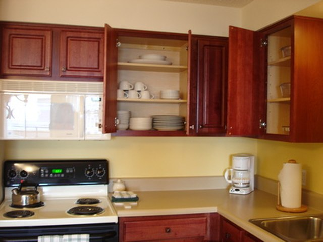 How To Remove Grease From Kitchen Cabinets Hunker - How to remove grease from kitchen cabinets