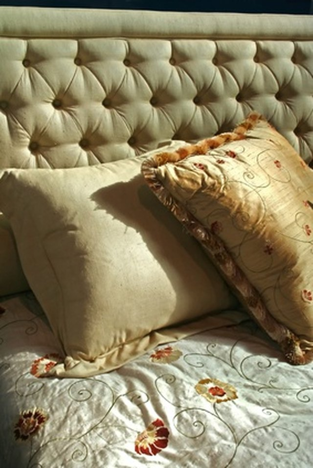 Large Pillows On Bed