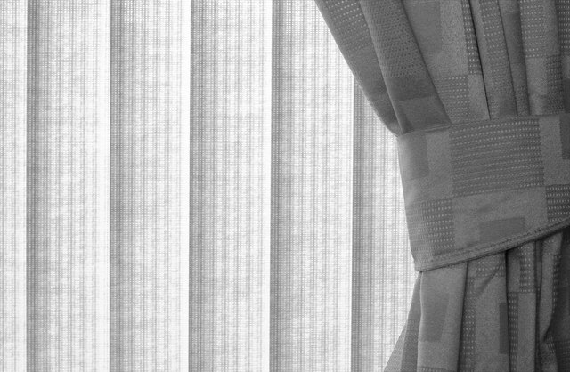 How To Hang Curtains With Vertical Blinds Hunker