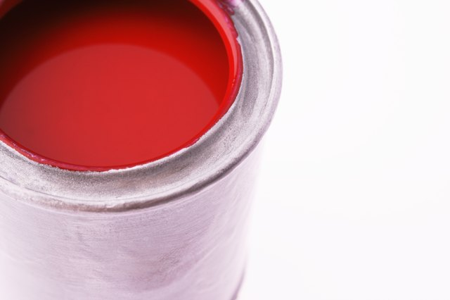 Close up of a paint can