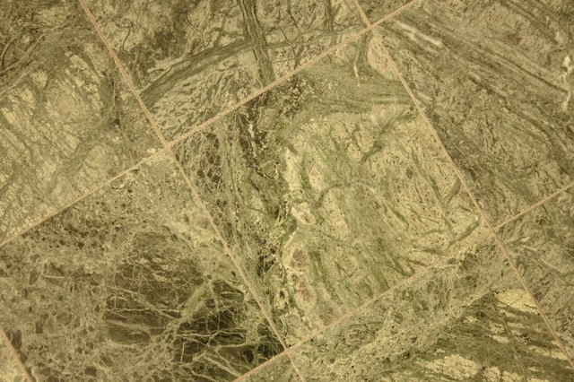 Green marble texture on square shapes