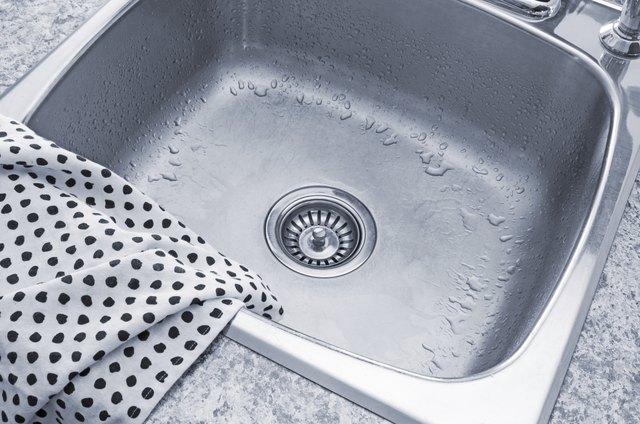 Clean sink and kitchen towel