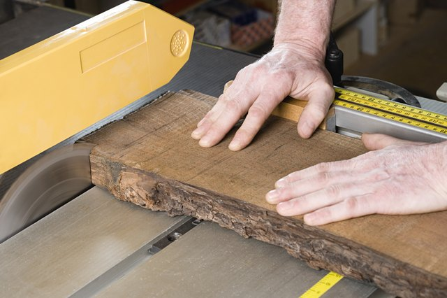 Person using table saw