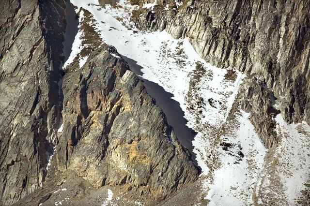Glacier on mountain