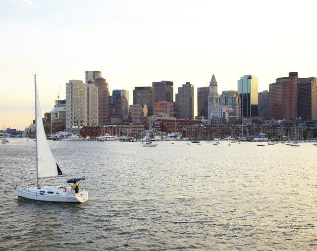 Sailboat in Boston Harbor