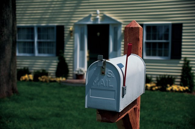 Mailbox in front of house