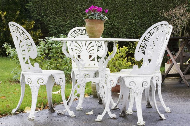 How To Paint Wrought Iron Furniture Hunker