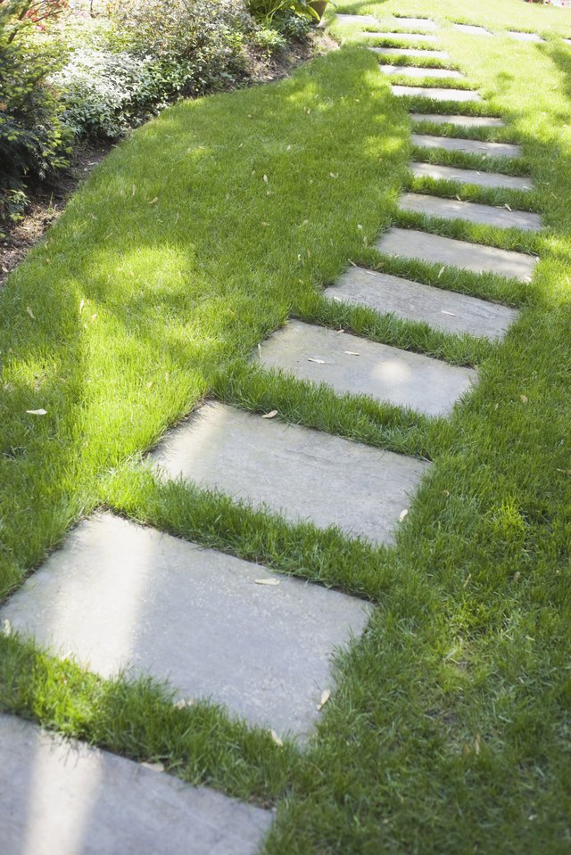 How To Set Flagstone In Grass Hunker