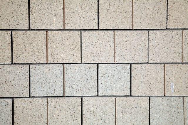 Pattern of cinder block wall