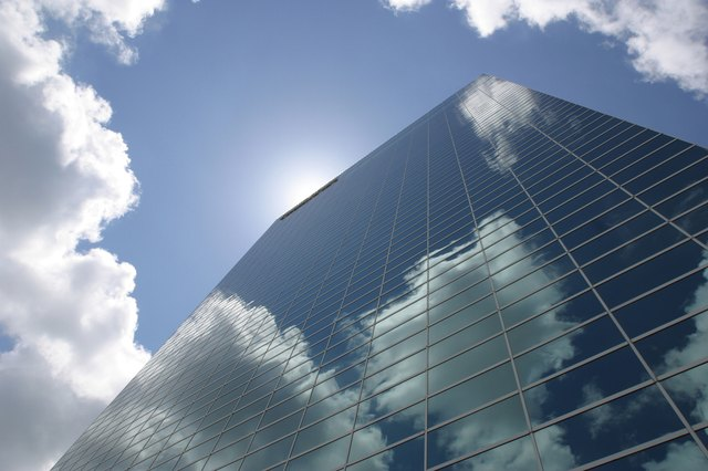 Reflection of clouds in skyscraper