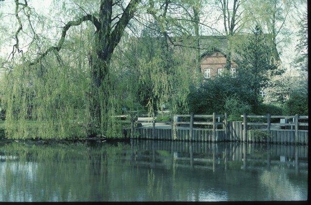 House next to lake , Germany , Europe