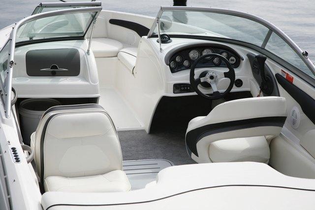 Cockpit of a speedboat