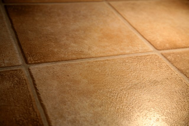 Pattern and texture of floor tiles