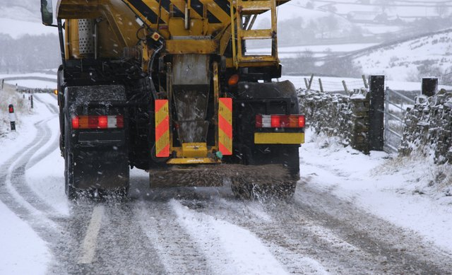 Snow Plough Gritting Roads