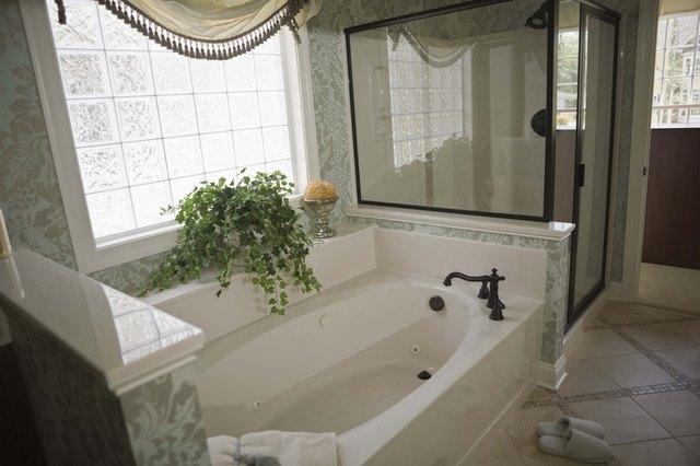 Modern bathroom in home
