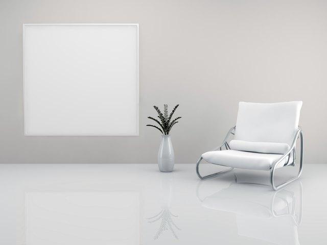 Minimalist armchair