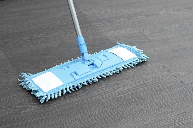 mop washing wooden floor