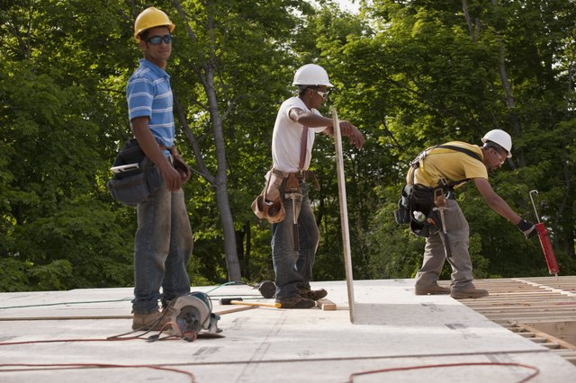 Carpenters working at a construction site