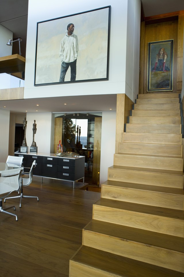 Staircase in loft apartment