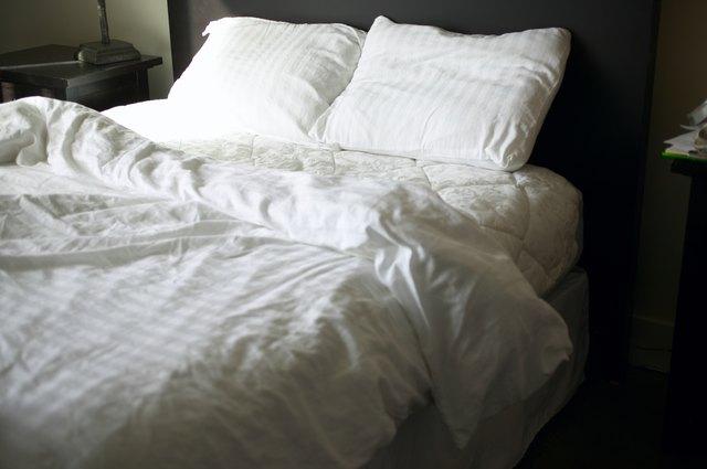 White linen on bed