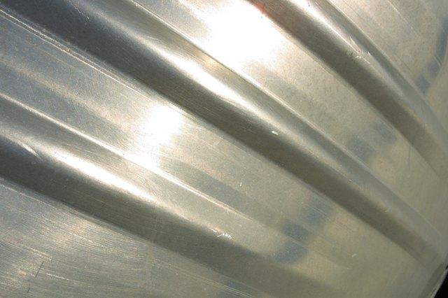 Close-up of aluminum