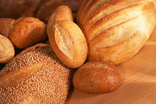 Assortment of bread loaves