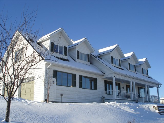 Large home with dormers scenic