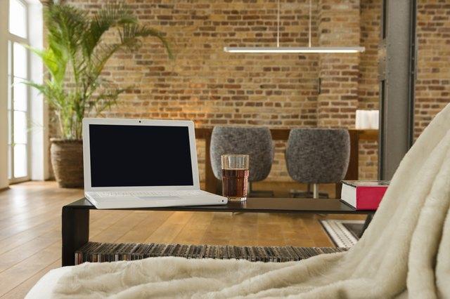 Showcase Interior With Laptop