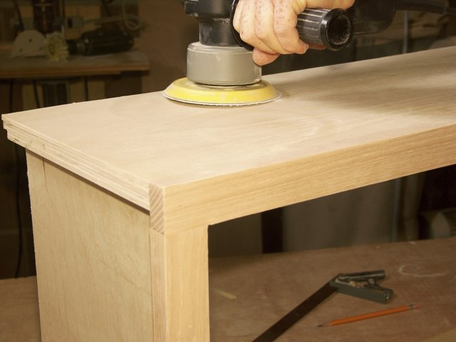 Sanding A Cabinet