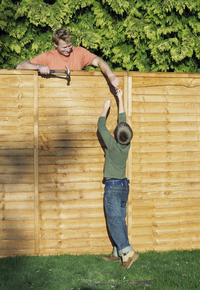 How to Attach a Wooden Privacy Fence to a Cinder Block Wall | Hunker