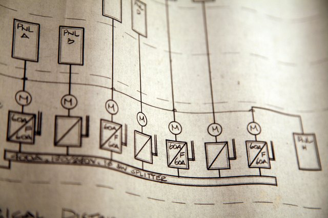 Detail of electrical blueprint