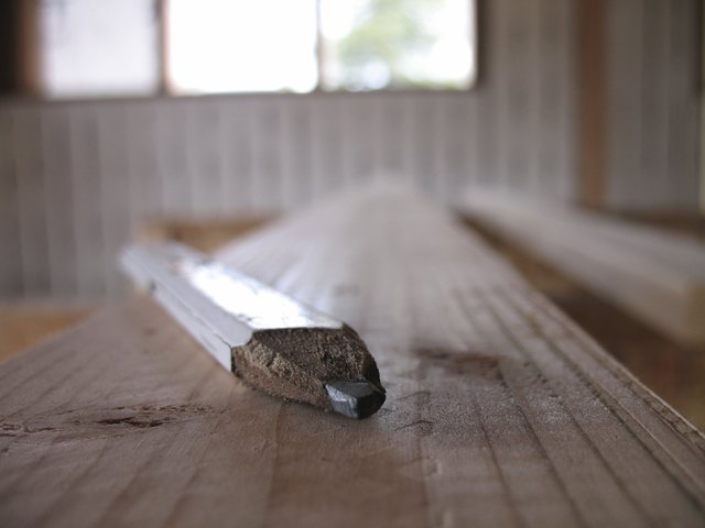 carpenter's pencil at a jobsite